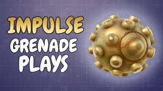 Making plays with the Impulse Grenade in this Solo vs Squad game (Fortnite)