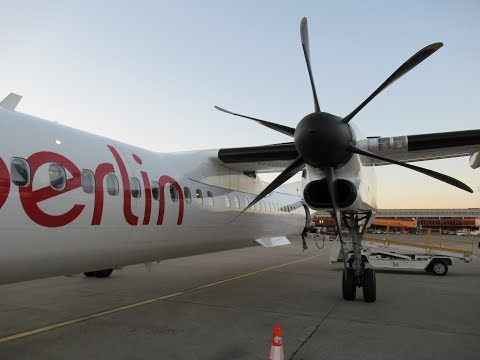 Full Flight | Air Berlin 8200 | Dash 8-Q400 | Berlin to Kraków!