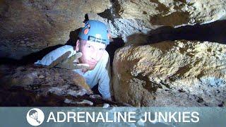 Student Squeezes Through Claustrophobic Cave