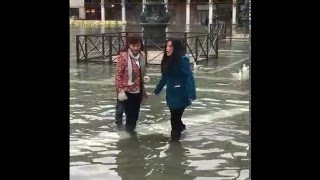 Flooding In Venice. Acqua Alta