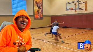 Duke Dennis Reacts To His 1v1 Basketball Stats, W L Record, & Shotchart!