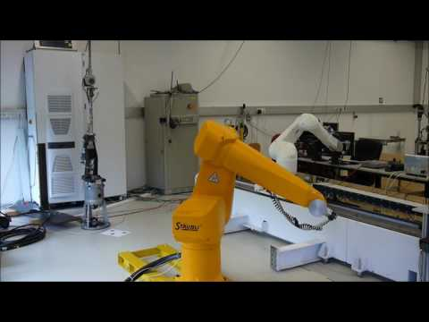 Time-optimal tube following with an industrial robot
