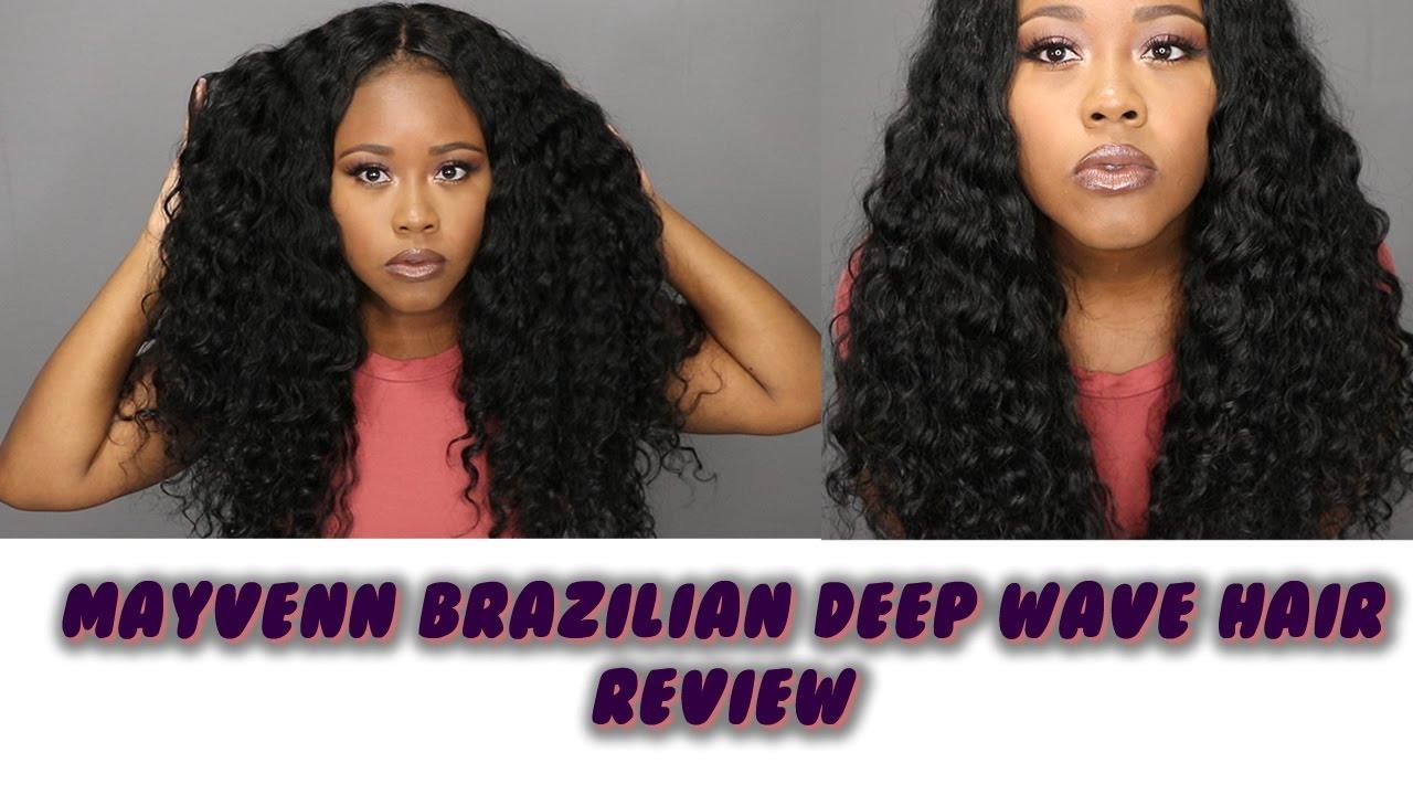 Mayvenn Brazilian Deep Wave Hair Review Youtube