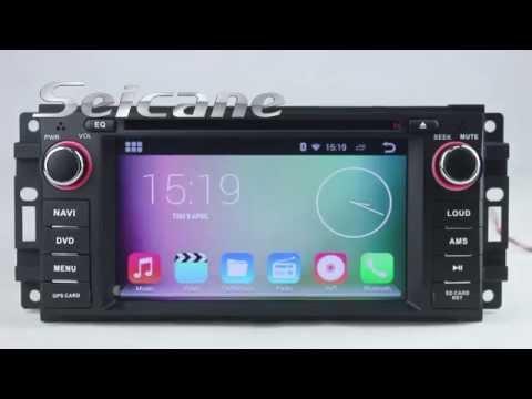 Jeep Grand Cherokee Radio, 2005-2011 Android 4.4 Jeep Grand Cherokee Navigation System Head Unit