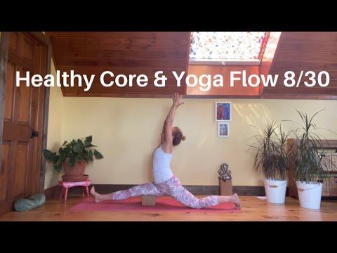 healthy core yoga flow hanumanasana / splits day 8/30