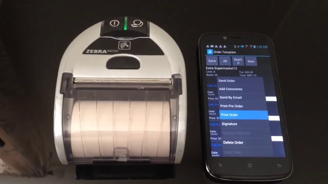 laceup mobile invoicing printing with zebra imz320 dsd youtube