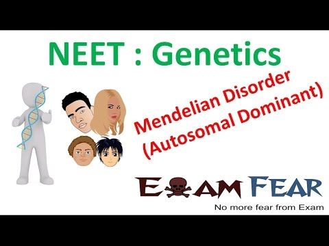 NEET Biology Genetics :  Mendelian disorders