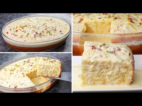 Malai Cake | Eggless & Without Oven | Yummy