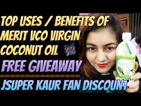 Benefits of Merit VCO Extra Virgin Coconut Oil – Free Giveaway | JSuper Kaur Special Fan Discount