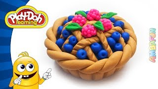 How to Make Play Doh Blueberry Pie. Modelling Clay fr Kids. Art for Kids. Play Doh Videos