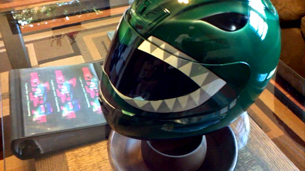 Custom Green Power Ranger Helmet Z1r Motorcycle Airbrushed Youtube