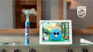Детская электрическая зубная щетка Philips Sonicare с приложением