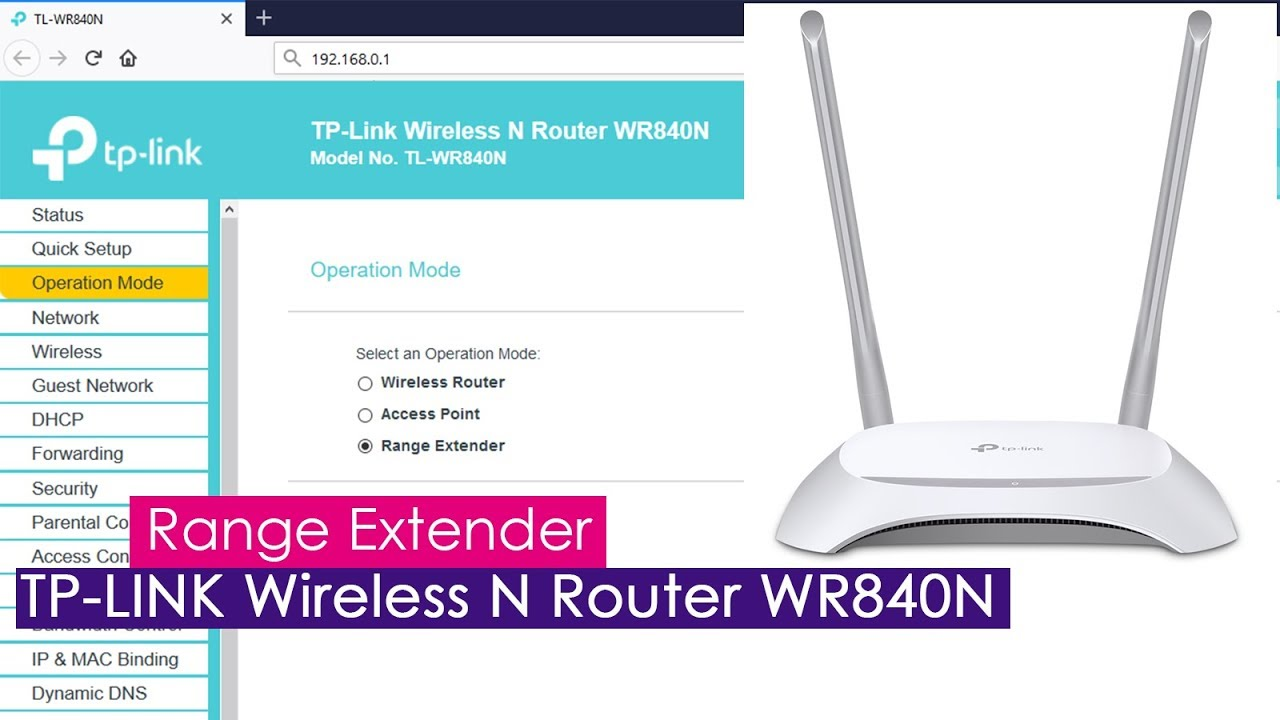 Setup Wireless REPEATER mode on TP-LINK TL-WR840N