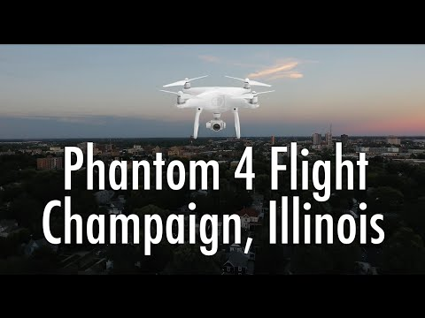 Phantom 4 Flight - Champaign, Illinois