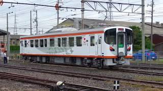一畑電車7000系 [デハ7003] 車両紹介の定位置へ入換 (2017駅サイトまつり)