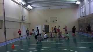 Фрагмент урока баскетбола в 5кл МОУ Запрудненская СОШ N 2