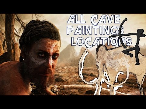 Far Cry Primal - All Cave Paintings Locations (PC HD) [1080p60FPS]