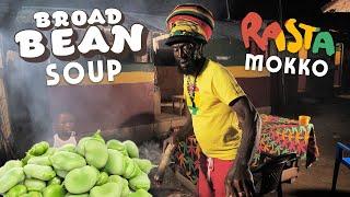 Broad Bean & Cucumber Soup with Rasta Mokko!