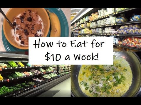 How To Eat For $10 A Week: Emergency Extreme Budget Food Shopping Haul