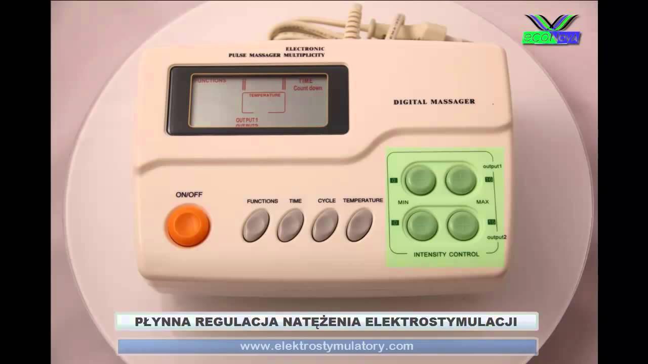 Góra Elektrostymulator TENS/EMS ECO88 Z FUNKCJĄ JONOFOREZY I ZD34