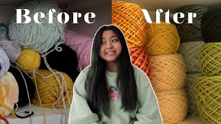 attempting to organize my yarn collection *transformation*