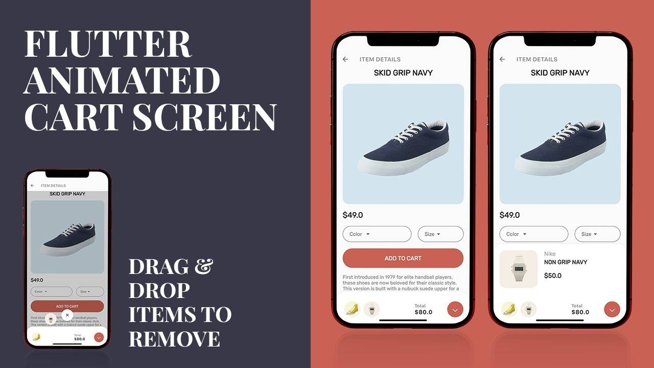 Flutter Add Product to Cart Animation
