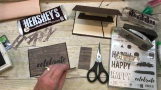 How to make a WOOD TEXTURES Man Card and Chocolate Gift Card Holder
