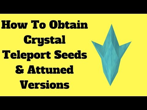 2018 | How To Get Attuned Crystal Teleport Seed | Runescape