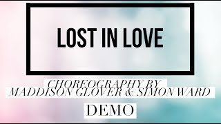 LOST IN LOVE line dance demo, choreography by Maddison Glover & Simon Ward