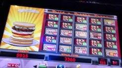 Big Win **Triple Cheeseburger Deluxe Slot Machine**Multi Bonus**