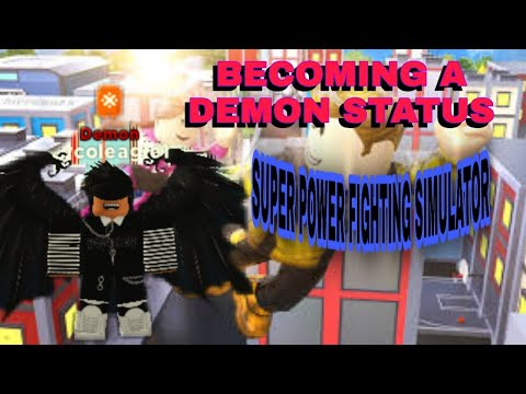 becoming a Demon on (Roblox) (Super Power Fighting Simulator)