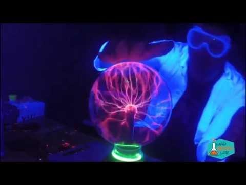 wireless electricity, plasma ball and light