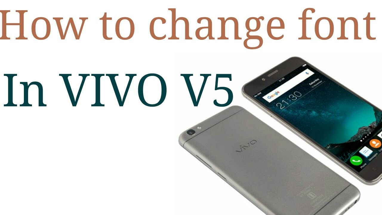 How to change font in vivo v5 without download any app  Techy Tech Shivam
