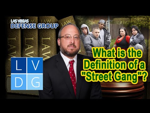 """What is the definition of a """"street gang"""" in Nevada? (NRS 193.168)"""