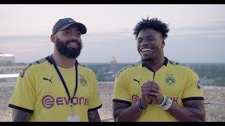 Matthias Farley and Kenny Moore II Visit BvB Dortmund