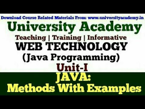 l23:web-technology,java-programming-for-beginners,-class-and-object-in-java,method-in-java|examples