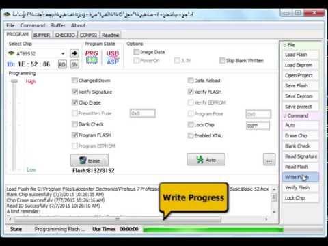 SANA Programmer - 89S52 Programming - EleWiz.com - YouTube
