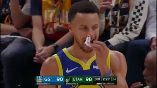 Steph Curry NOSEBLEED, Wants To Play Wi...