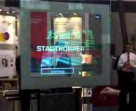 Interactive Poster with PointScreen (2006) by Monika Fleischmann & Wolfgang Strauss