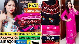 Flipkart Kurti Haul|Amazon Kurti Haul|Amazon Online Shopping Haul|Latest Designer Kurti Haul| Pink's