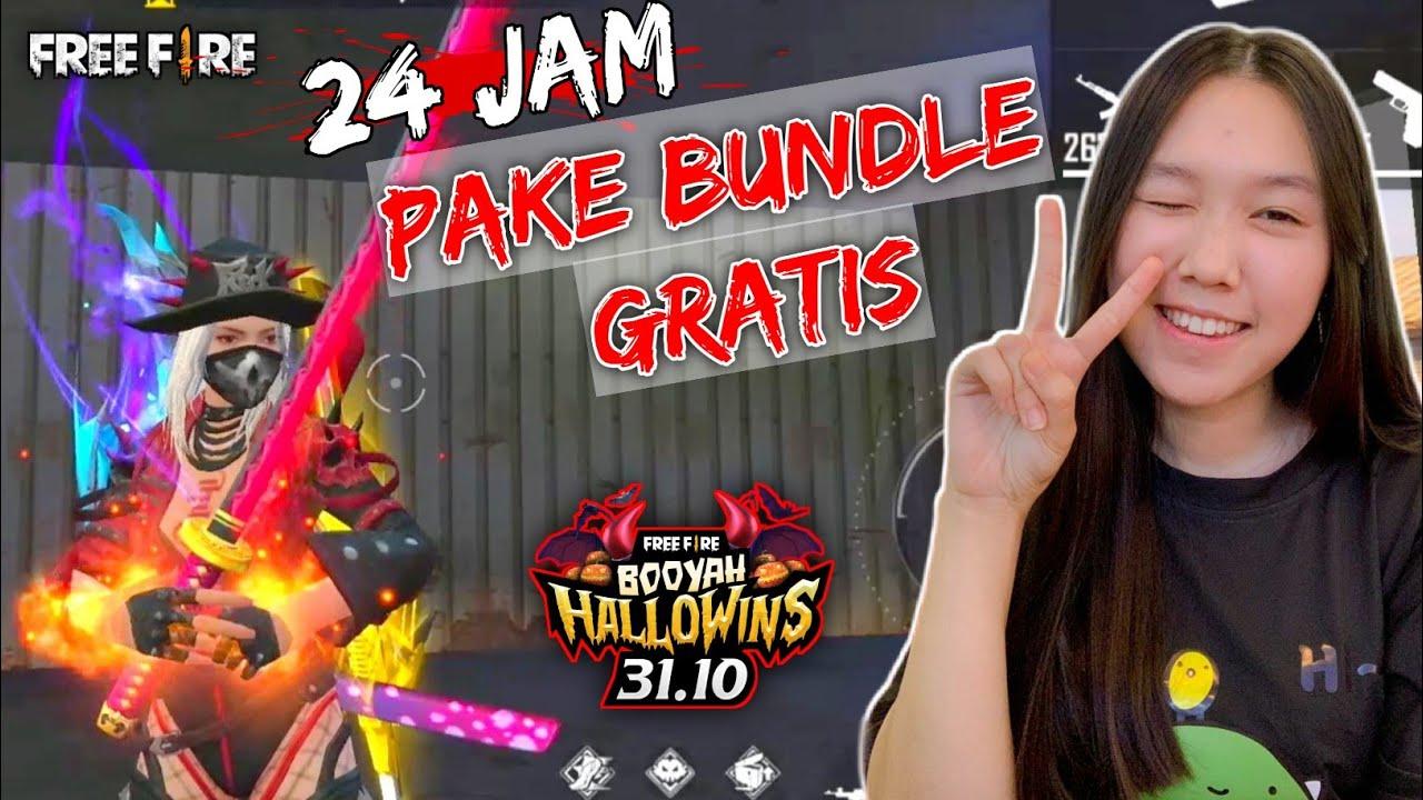 PAKE BUNDLE HALOWEEN GRATIS - FREE FIRE INDONESIA