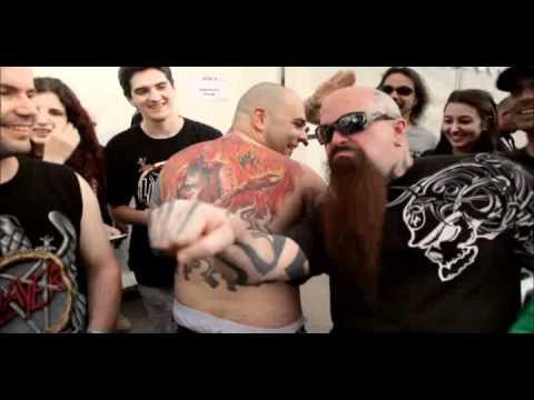 Slayer tattoo of a fan of Kerry (Sonisphere Festival, Sofia, Bulgaria, 22.06.2010)