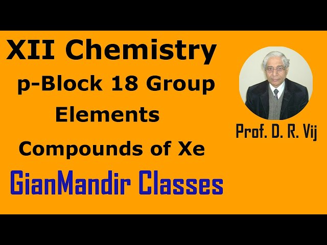 XII Chemistry | p-Block 18 Group Elements | Compounds of Xe by Ruchi Ma'am