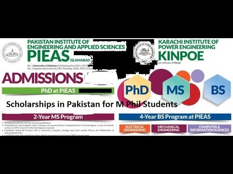 Scholarships in Pakistan for M Phil Students | PAEC Scholarships
