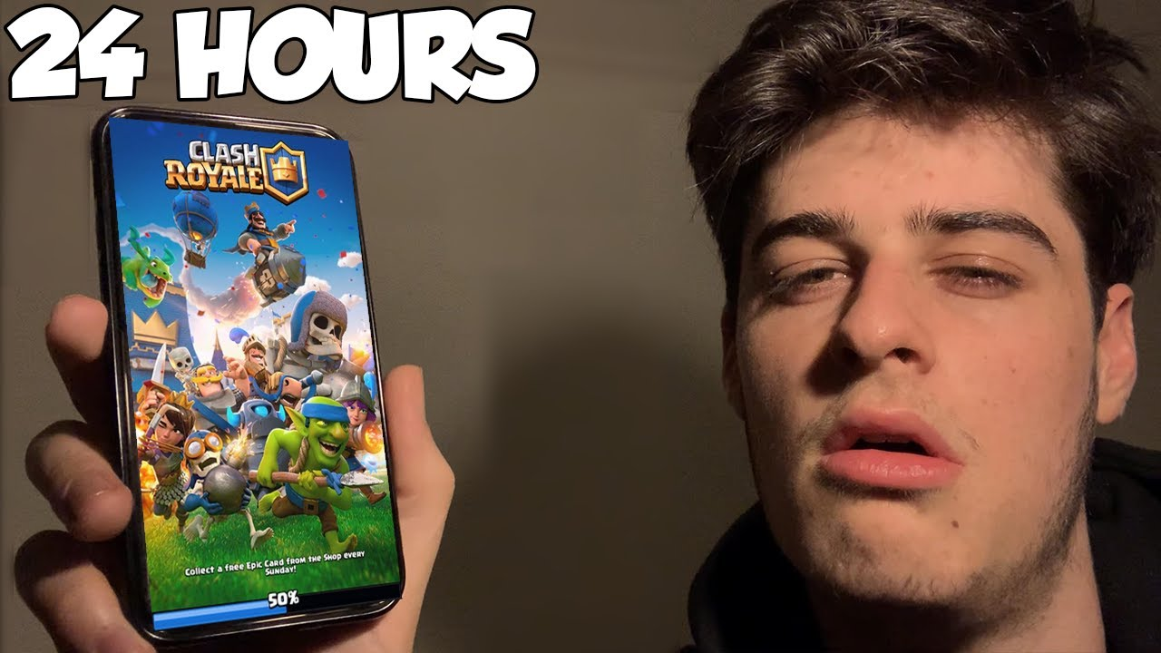 I Spent 24 Hours Playing Clash Royale Straight