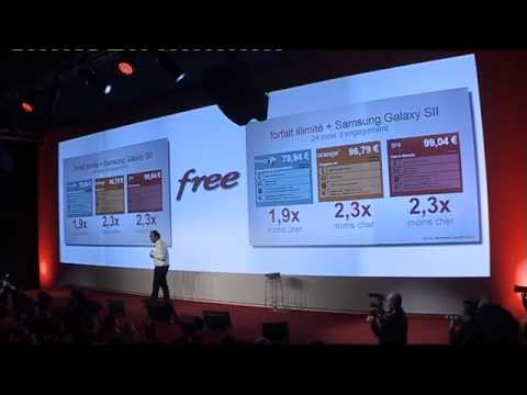 Free - lancement de l'offre mobile - Conférence de presse de Xavier Niel