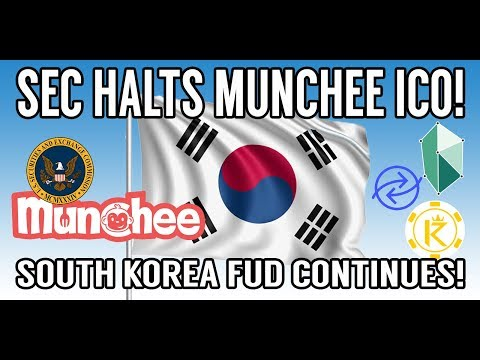 CRYPTO NEWS! SEC Halts Munchee ICO! South Korea FUD! KNC, RCN, KBR