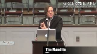 Cosmology, Theology and Meaning - Dr. Tim Maudlin (Greer Heard Forum 2014)