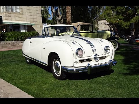 1950 Austin A-90 Atlantic Convertible & engine Start @ AZ Concours - My Car Story with Lou Costabile
