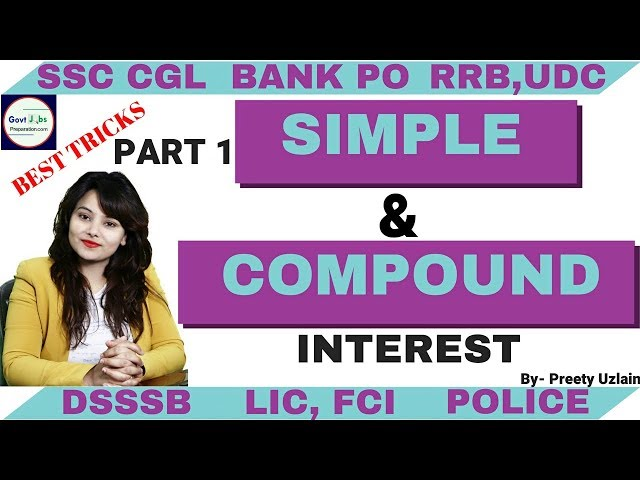 Simple interest and Compound interest formula | Compound Interest Questions